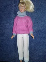 1995 Barbie With Yellow Ring and Earrings - $9.89