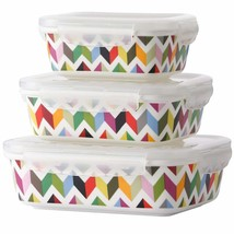 French Bull 3 Piece Porcelain Food Storage Container Set - Lunch, Airtig... - £44.76 GBP