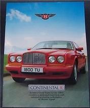 1991 Bentley Grand Tourer Sales Brochure - $19.99