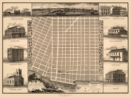 Mobile Alabama - Goodwin 1824 - 23.00 x 30.62 - $36.58+