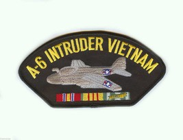 "A-6 INTRUDER VIETNAM VETERAN EMBROIDERED 6"" SERVICE RIBBON MILITARY PATCH - $15.33"