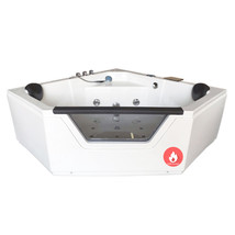 "Whirlpool Corner Bathtub Hydrotherapy IBIZA 59.05"" and Heater 2 Person H... - $2,299.00"