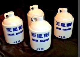 Stoneware 4/5 Quart Crock Whiskey Jug, Ehrle Bros. Winery Amana Colon AA18-1187 image 2