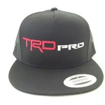 TOYOTA TACOMA TRD PRO TUNDRA 4RUNNER BLACK TRUCKER HAT CAP SNAPBACK - $19.99