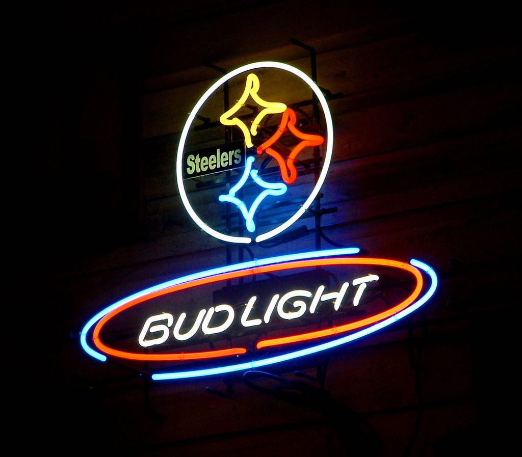 """New Bud Light Pittsburgh Steelers NFL Neon Sign 24""""x20"""" Ship From USA"""