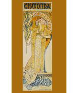 "20x30""Decor Canvas.Interior design Art Nouveau.Mucha Gismonda theater.6265 - $60.78"