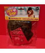 Rubies Pet Dog Clothes S/M Hat Bandana Set Halloween Costume Prop Holida... - $2.84