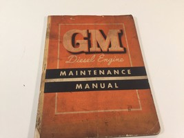 1955 GM Diesel Engine Maintenance Manual X-5510 Series 71 2-Cycle - $24.99