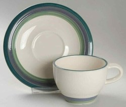 Flat Cup & Saucer Set Mountain Shadow By Pfaltzgraff - $5.23