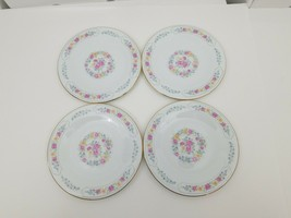 Liling Fine China Side Bread Dessert Plates Set of 4 Yung Shen Keepsake ... - $19.34