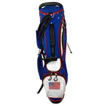 AVC Red White & Blue America USA 14 Ways Golf Cart-Friendly Stand Bag, Rain Hood image 2