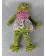 """Maison Chic Plush Green Frog Pink Dress 14"""" - $15.83"""