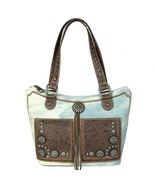 MW587G-8304 Montana West Concho Denim Collection Tote Bag - $59.99
