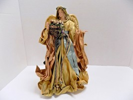 """VINTAGE PAPER MACHE ANGEL TREE TOPPER 10"""" CHRISTMAS FIGURINE HANDCRAFTED  - $47.50"""