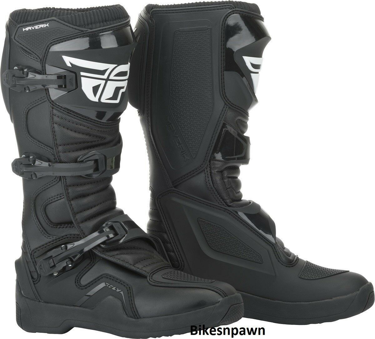 New 2019 Adult Size 8 Fly Racing Maverik Black Motocross MX ATV Boots