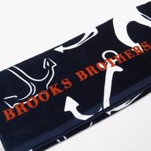 Brooks  Brother's Anchor  Nautical  Print Large Beach Towel 100% Cotton ... - $37.18
