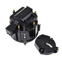 A-Team Performance CR6BK HEI OEM Distributor Cap Rotor and Coil Cover Kit 6 Cyli