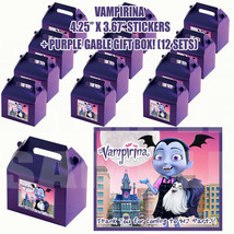 VAMPIRINA Party Favor Boxes Thank you Decals Stickers Loots Party Candy ... - $24.70