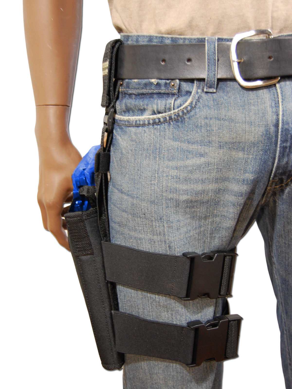 """NEW Barsony Tactical Leg Holster for 4"""" Ruger .38 .357 .41 .44 Revolvers"""