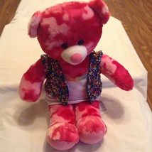 Build A Bear girl pink camouflage bear sequin outfit 18 inch - $19.99