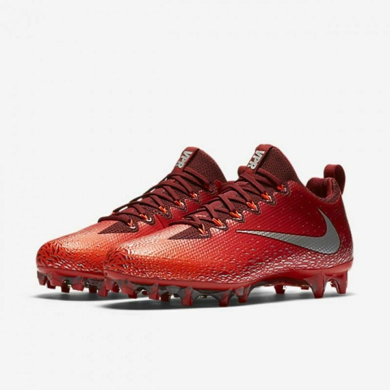 Primary image for Nike Vapor Untouchable 833385-608 Team Red Silver Pro Football Cleats Size 15