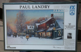 Paul Landry The Toymaker Jigsaw Puzzle Sealed New F.X. Schmid 1000 Piece  - $14.84