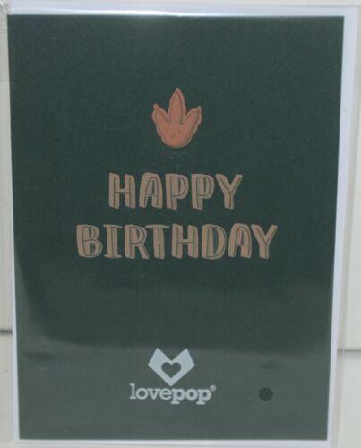 Lovepop LP2670 Happy Birthday Stegosaurus Pop Up Card White Envelope
