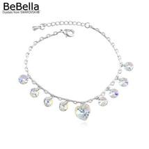 BeBella heart charm bracelet with crystals from Swarovski original fashi... - $17.05