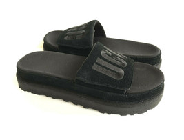 UGG LATON SLIDE BLACK UGG EMBROIDERY LOGO SANDAL US 10 / EU 41 / UK 8 - $83.22