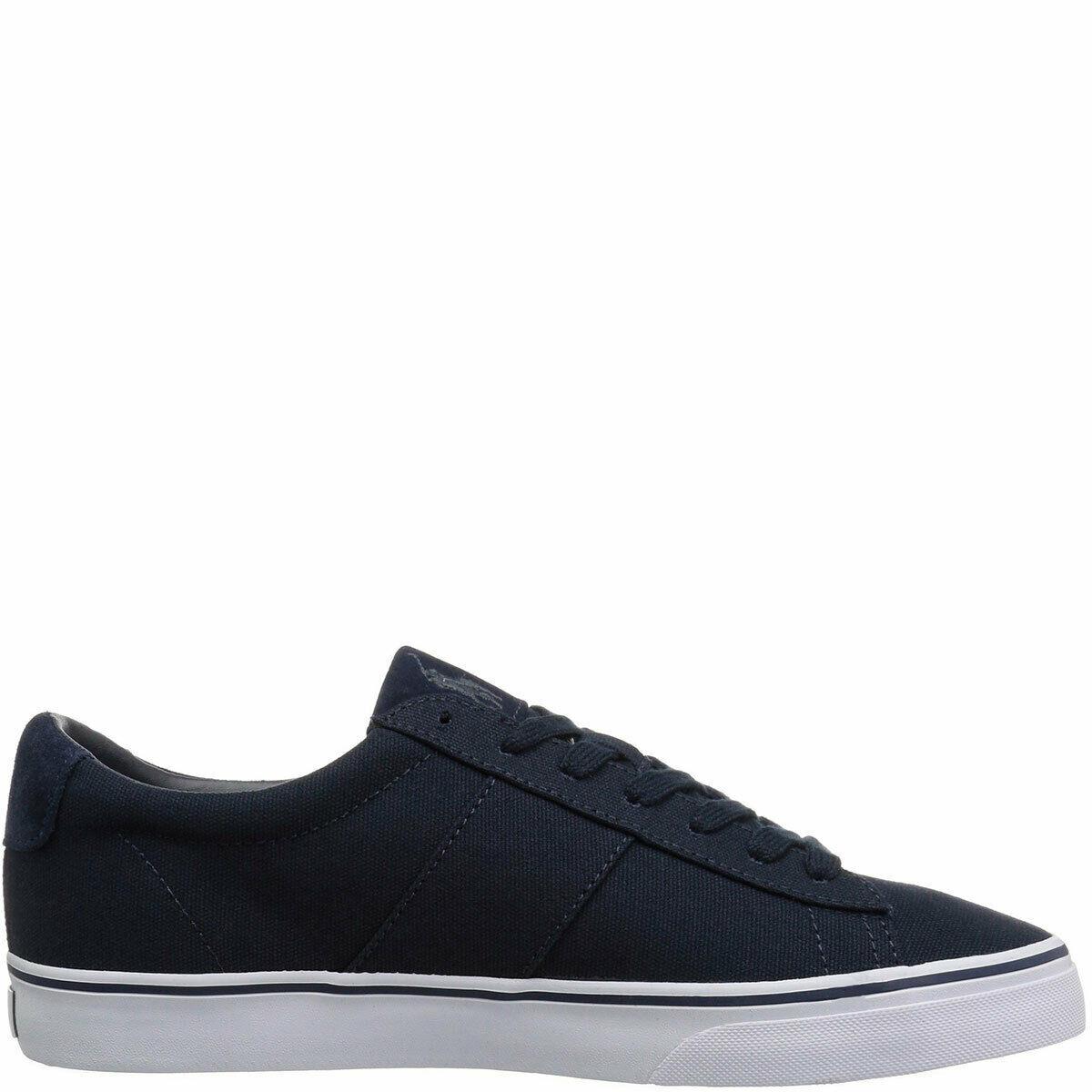 Polo Ralph Lauren Mens Sayer Low-Top Sneakers Black 9.5 D MSRP 50 New