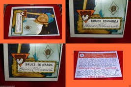 1952 Topps Bruce Edwards Card # 224  Beautiful Baseball Card Over 60 Years Old - $127.71