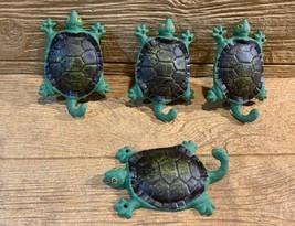 "Cast Iron Green & Black Tortoise w/ Tail Hook 5 1/2"" tall (Set of 4) 017... - $34.00"