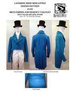 Men's Empire & Regency Tailcoat Coat Sewing Pattern #122 (Pattern Only) ... - $18.00