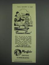 1949 Mayfair Toffees & Chocolates Ad - Treasure Trove! - $14.99
