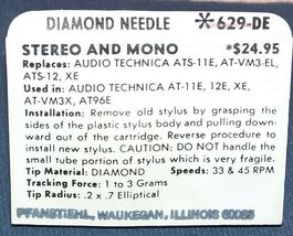 Fisher Sanyo TP-1020 ST35VD TURNTABLE NEEDLE for ATS11E AT-12E AT-11 629-DE image 3