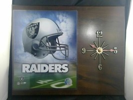 """2004 NFL Oakland Raiders PHOTO FILE Clock Battery Operated 15"""" x 11.5"""" - $33.95"""