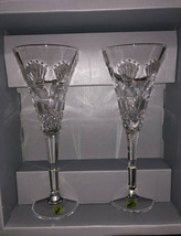WATERFORD CRYSTAL MILLENNIUM COLLECTION PROSPERITY TOASTING FLUITES - $89.99