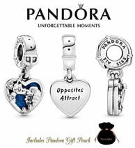 Authentic S925 Ale Pandora Disney Lady and the Tramp Heart Dangle Charm 798634C0 - $24.30