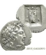 LYCIAN League 48 BC temp Julius Caesar APOLLO Ancient Greek Silver Coin ... - $224.10