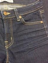 Anthropologie Women's J BRAND Jeans Dark Wash Boot Stretch Mint Long Size 25 image 2