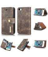 DG.MING 2 in 1 Split Leather Wallet Cover + Removable PC Mobile Phone Sh... - $11.38