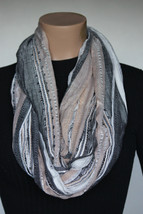 NEW Collection 18 Eighteen Women's Neck Infinity Scarf White Bright  22x36 - $10.88