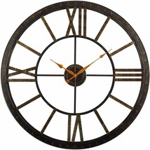 "Wall Clock 40"" Large Roman Numerals Modern Industrial Antiqued Shabby Chic - $169.00"