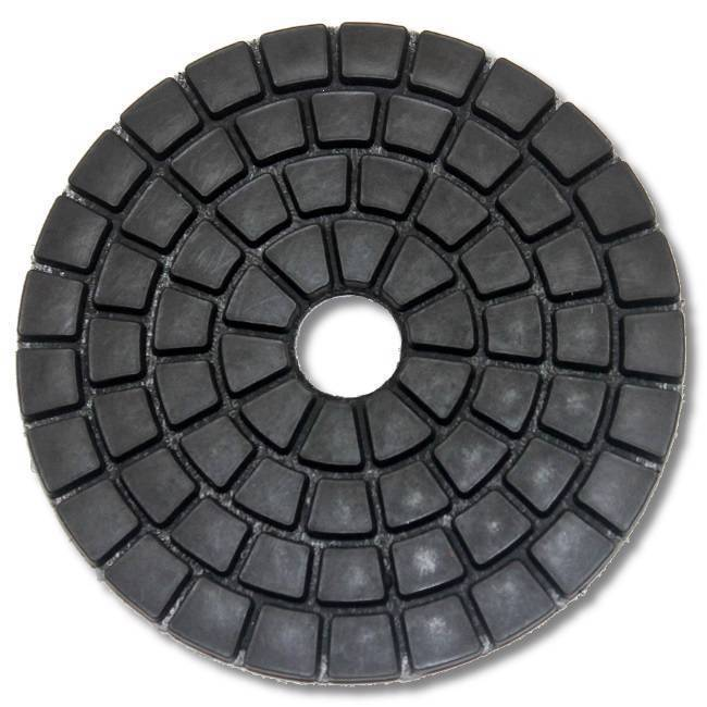 "KENT Economy Quality 4"" WET BLACK Buff Polishing Pad, Hook and Loop Backing - $7.43"
