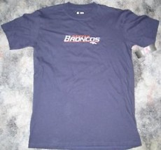 New Denver Broncos T Shirt M Med Medium New Blue Stitched Top Sewn Nfl Nwt - $14.95