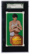 Pistol Pete Maravich Atl Hawks 1970-71 Topps #123 Rookie Card NM 7 SGC - $5,100.47