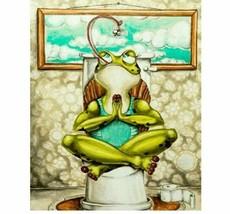 Diy Diamond Painting New 5d Toilet Frog Cartoon Home Handmade Embroidery... - $9.89+
