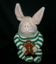 GUND 2007 OLIVIA PIG CHRISTMAS GINGERBREAD STUFFED ANIMAL PLUSH TOY DOLL... - $18.70