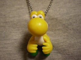 Yellow Yoshi Super Mario Brothers Figure Charm Necklace Collectible Jewelry - $8.81