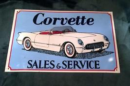 "Corvette Convertible ""Sales And Service"" Metal ... - $21.29"